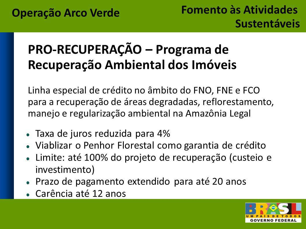 PRO-RECUPERAÇÃO – Programa de Recuperação Ambiental dos Imóveis