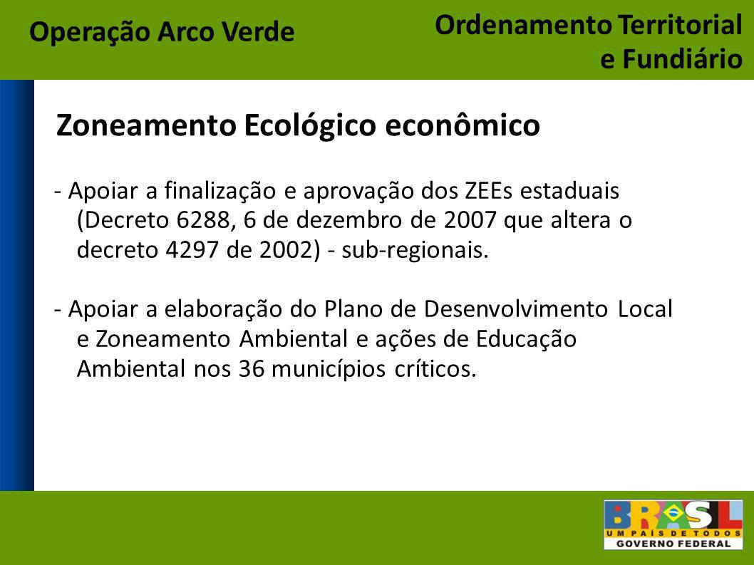 Zoneamento Ecológico econômico