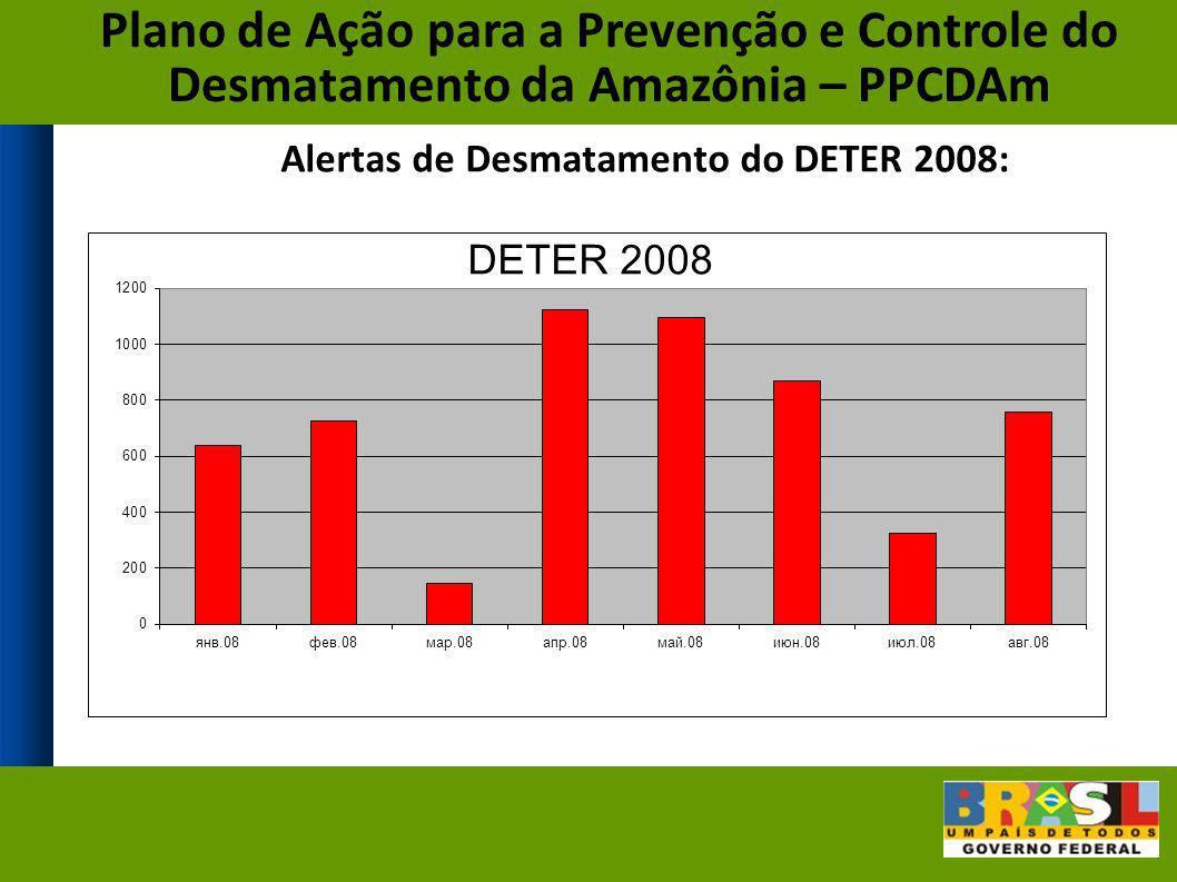 Alertas de Desmatamento do DETER 2008:
