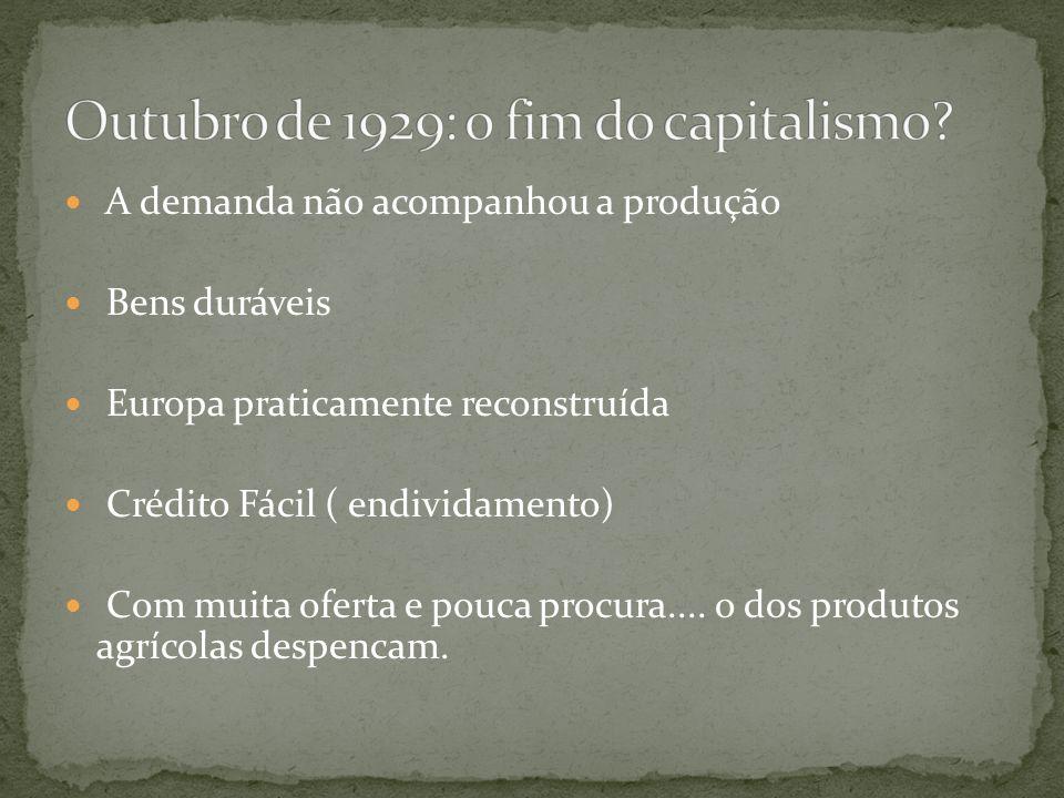 Outubro de 1929: o fim do capitalismo
