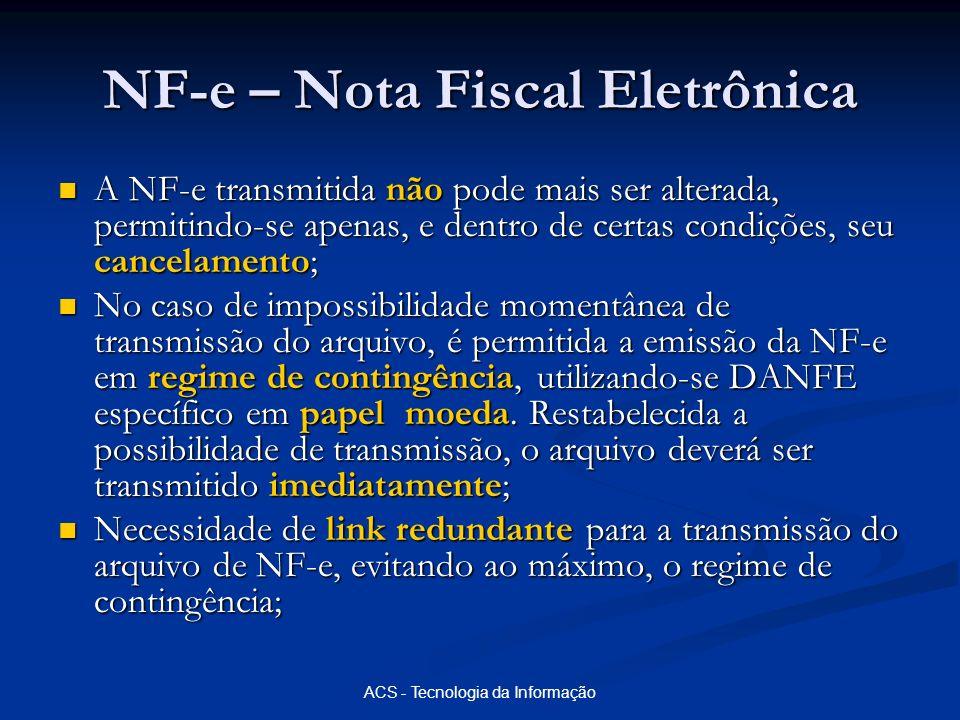 NF-e – Nota Fiscal Eletrônica