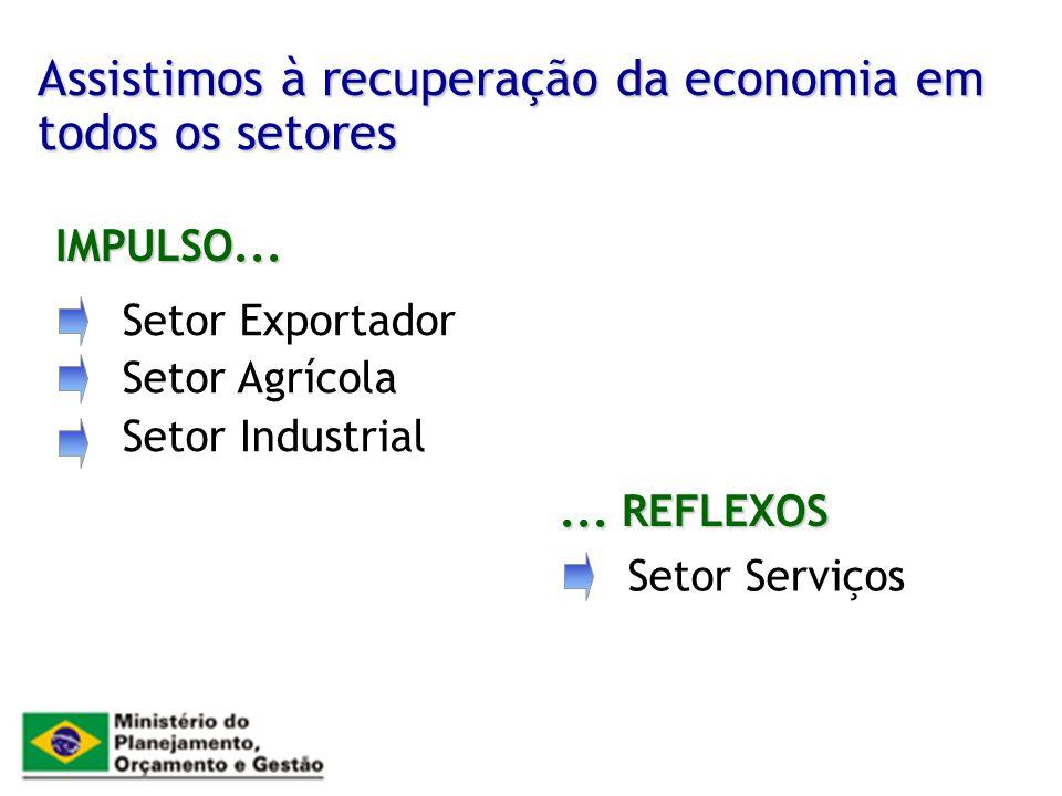 Assistimos à recuperação da economia em todos os setores