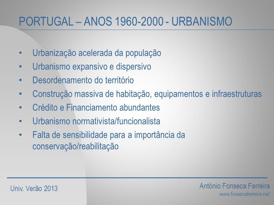 PORTUGAL – ANOS 1960-2000 - URBANISMO