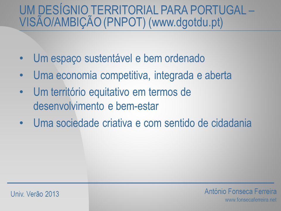 UM DESÍGNIO TERRITORIAL PARA PORTUGAL – VISÃO/AMBIÇÃO (PNPOT) (www