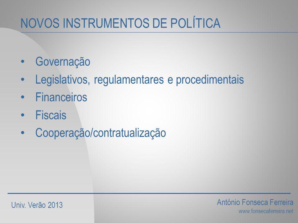 NOVOS INSTRUMENTOS DE POLÍTICA