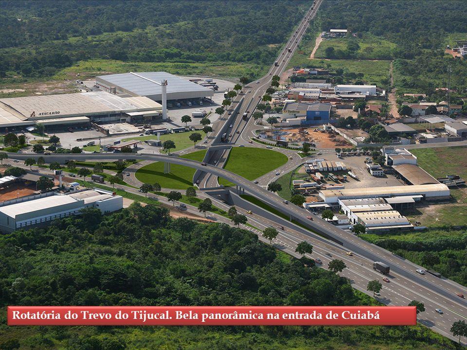 Rotatória do Trevo do Tijucal. Bela panorâmica na entrada de Cuiabá