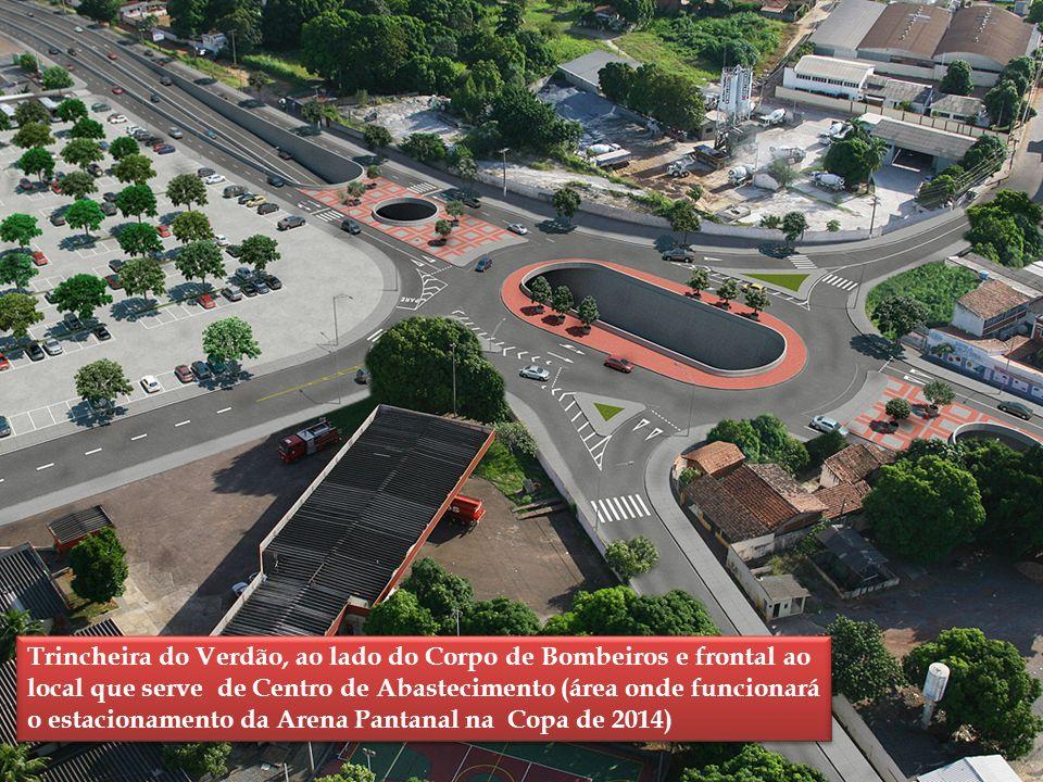 Trincheira do Verdão, ao lado do Corpo de Bombeiros e frontal ao local que serve de Centro de Abastecimento (área onde funcionará o estacionamento da Arena Pantanal na Copa de 2014)