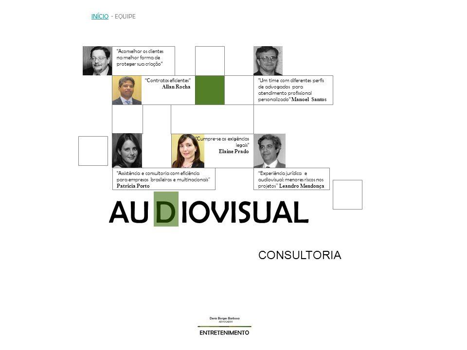 AU IOVISUAL D CONSULTORIA INÍCIO - EQUIPE