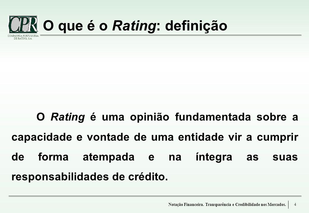O que é o Rating: definição