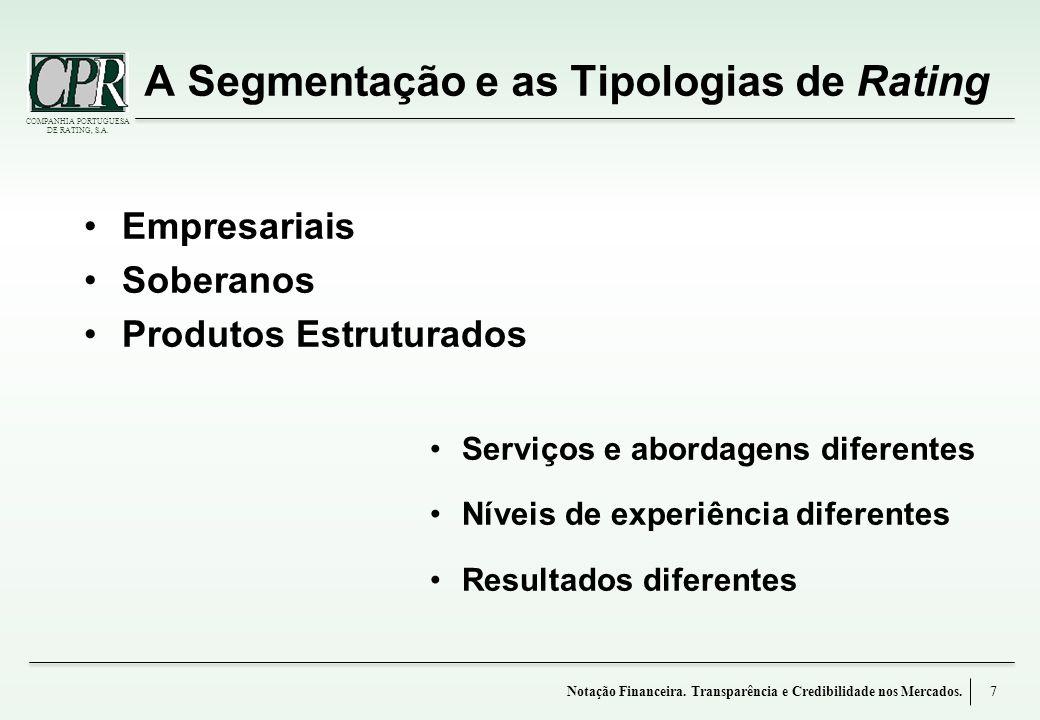 A Segmentação e as Tipologias de Rating