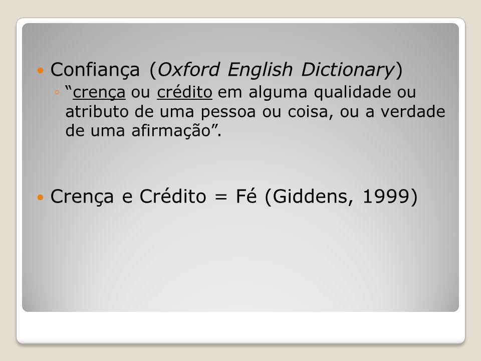 Confiança (Oxford English Dictionary)
