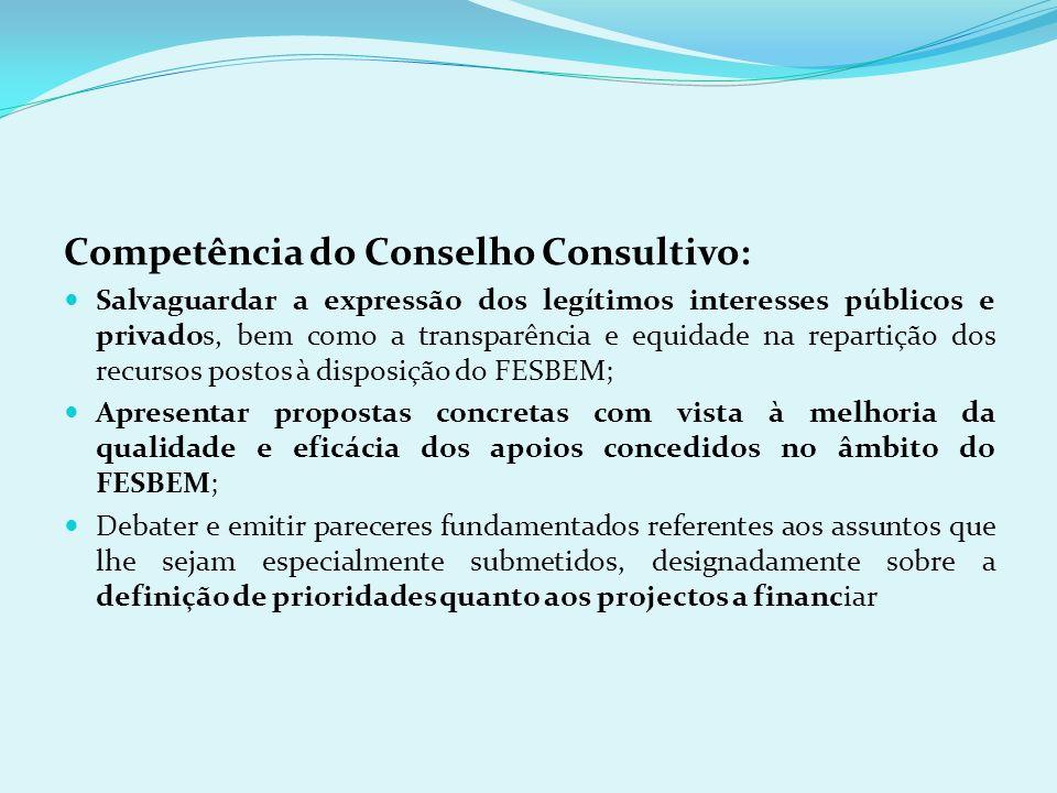 Competência do Conselho Consultivo:
