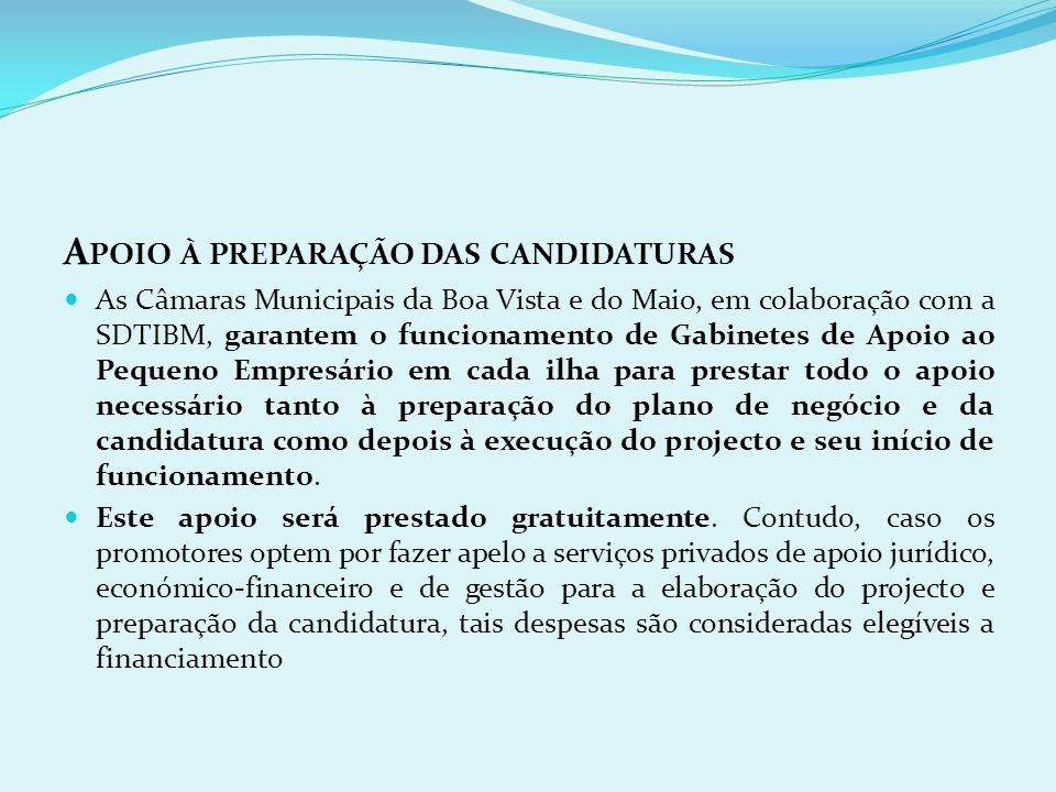 Apoio à preparação das candidaturas