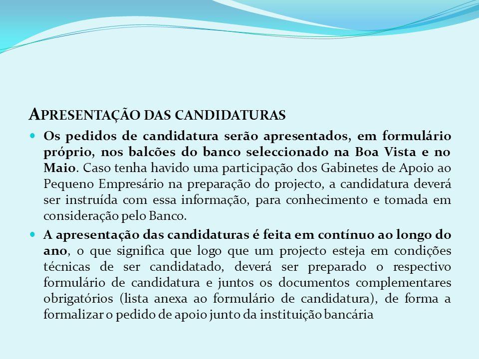 Apresentação das candidaturas