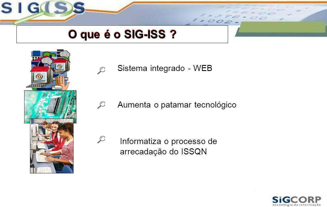 O que é o SIG-ISS O que é o SIG-ISS