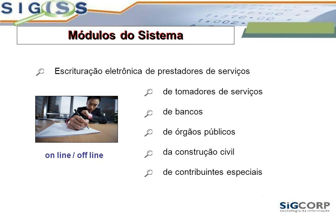 Módulos do Sistema Módulos do Sistema