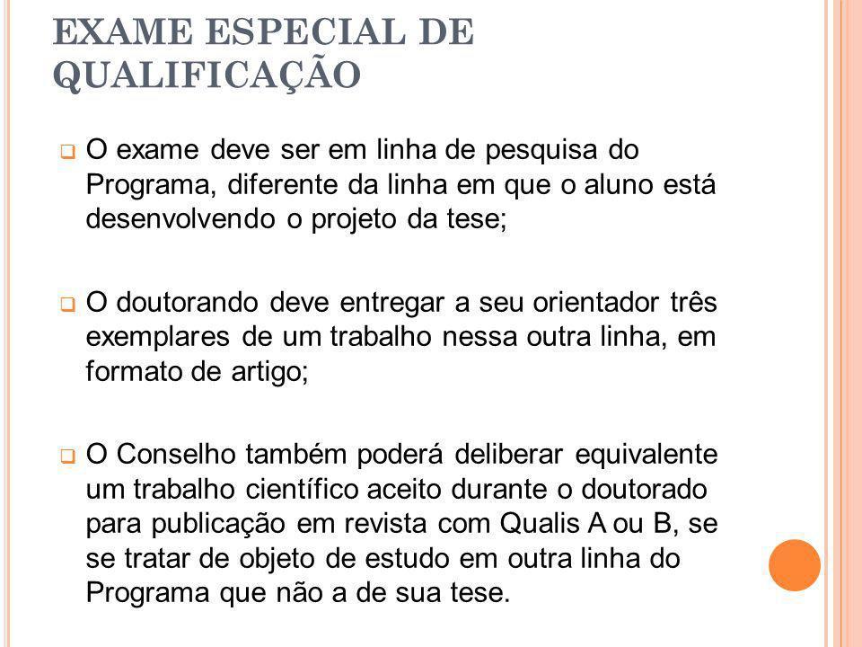 EXAME ESPECIAL DE QUALIFICAÇÃO