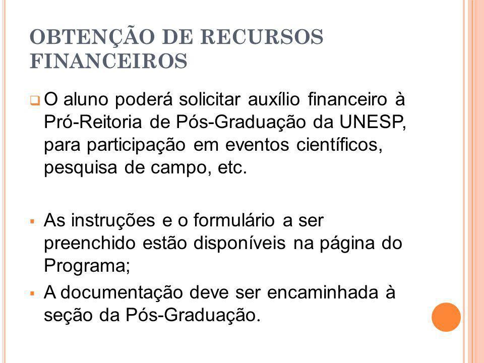 OBTENÇÃO DE RECURSOS FINANCEIROS
