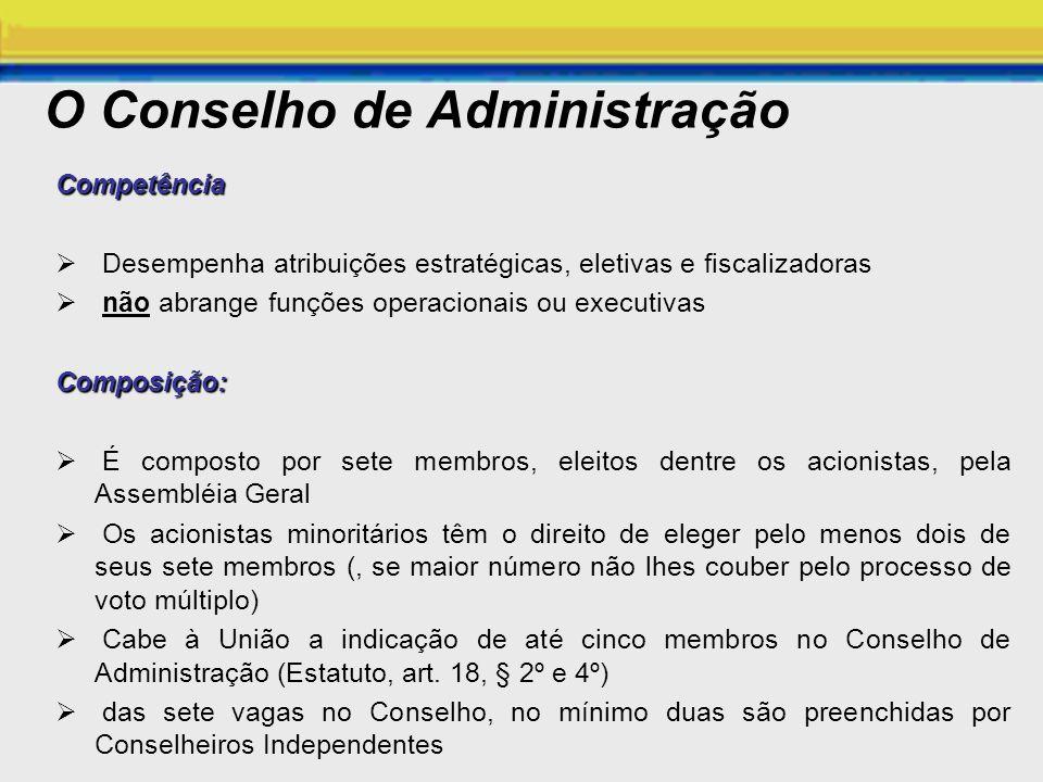 O Conselho de Administração