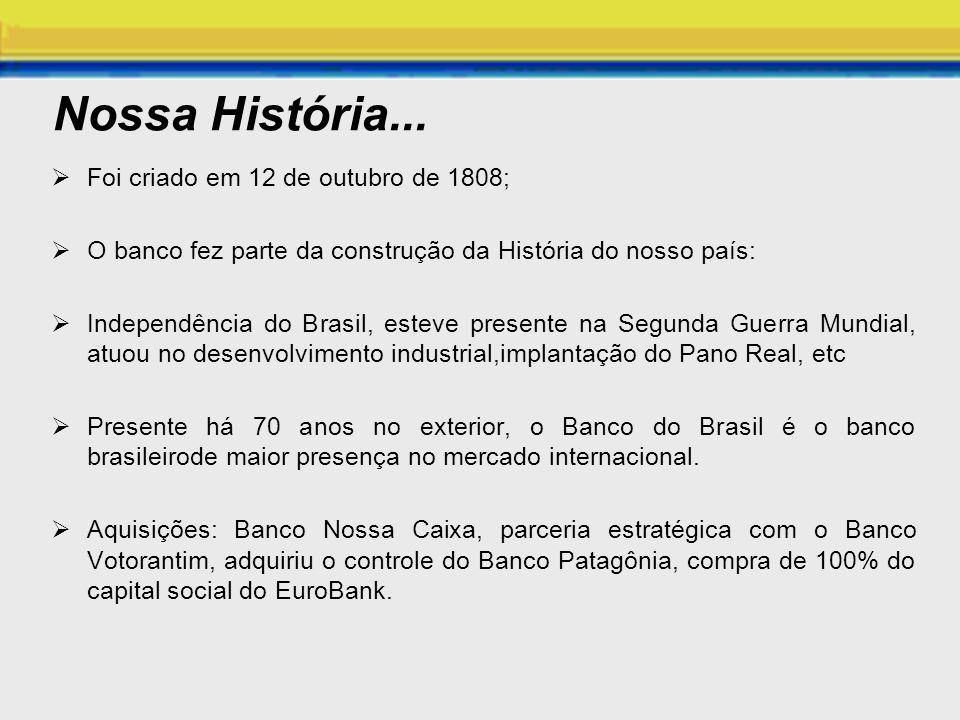 Nossa História... Foi criado em 12 de outubro de 1808;