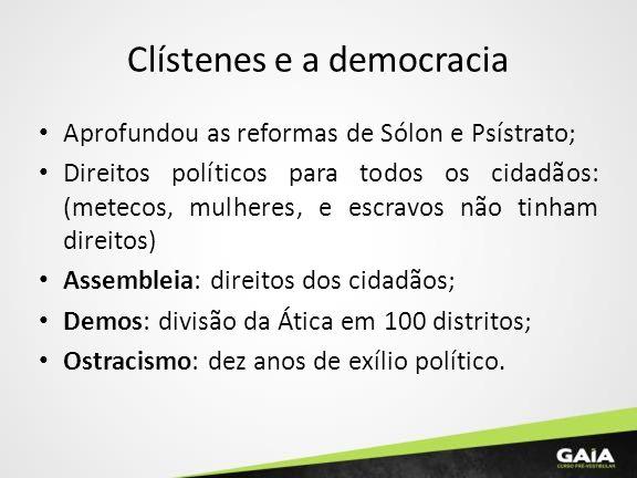 Clístenes e a democracia