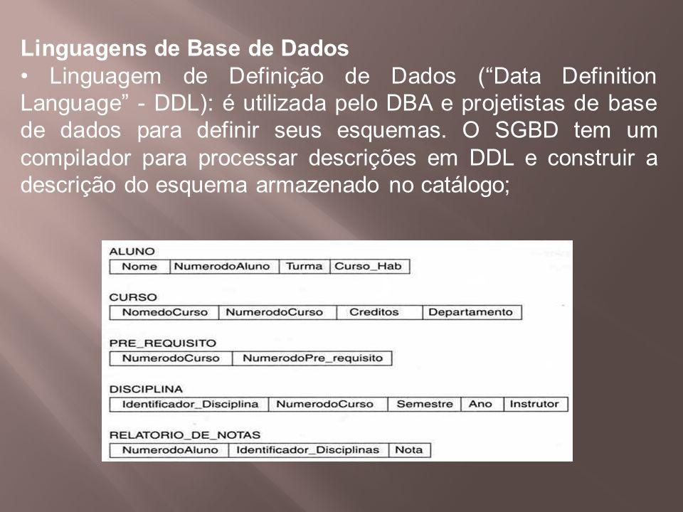 Linguagens de Base de Dados