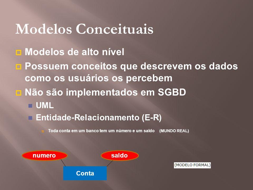 Modelos Conceituais Modelos de alto nível