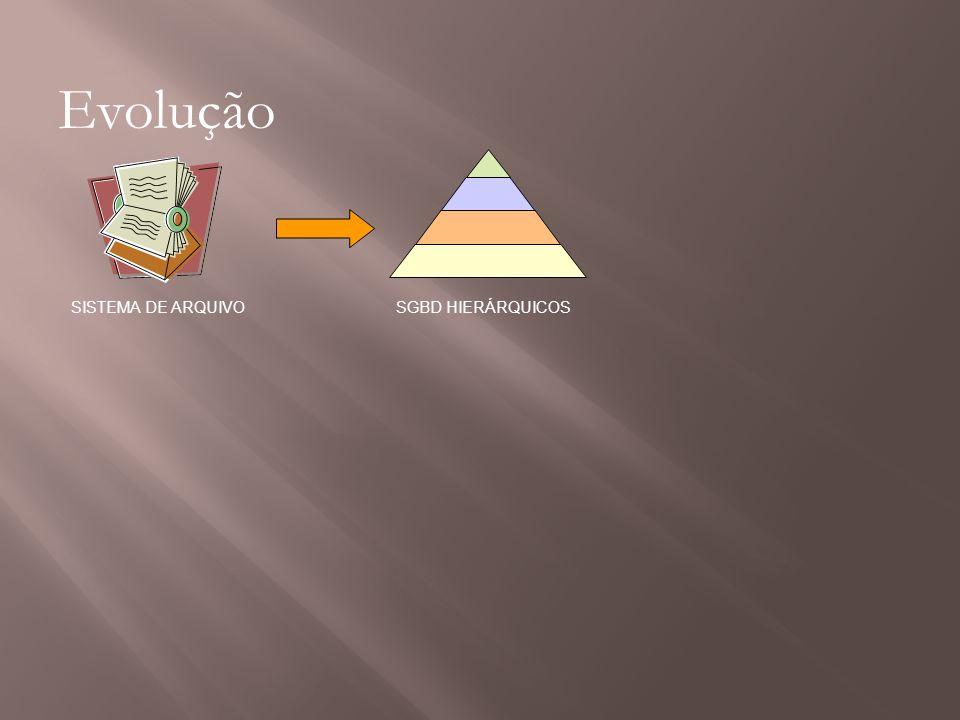 Evolução SISTEMA DE ARQUIVO SGBD HIERÁRQUICOS