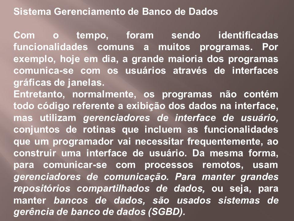 Sistema Gerenciamento de Banco de Dados
