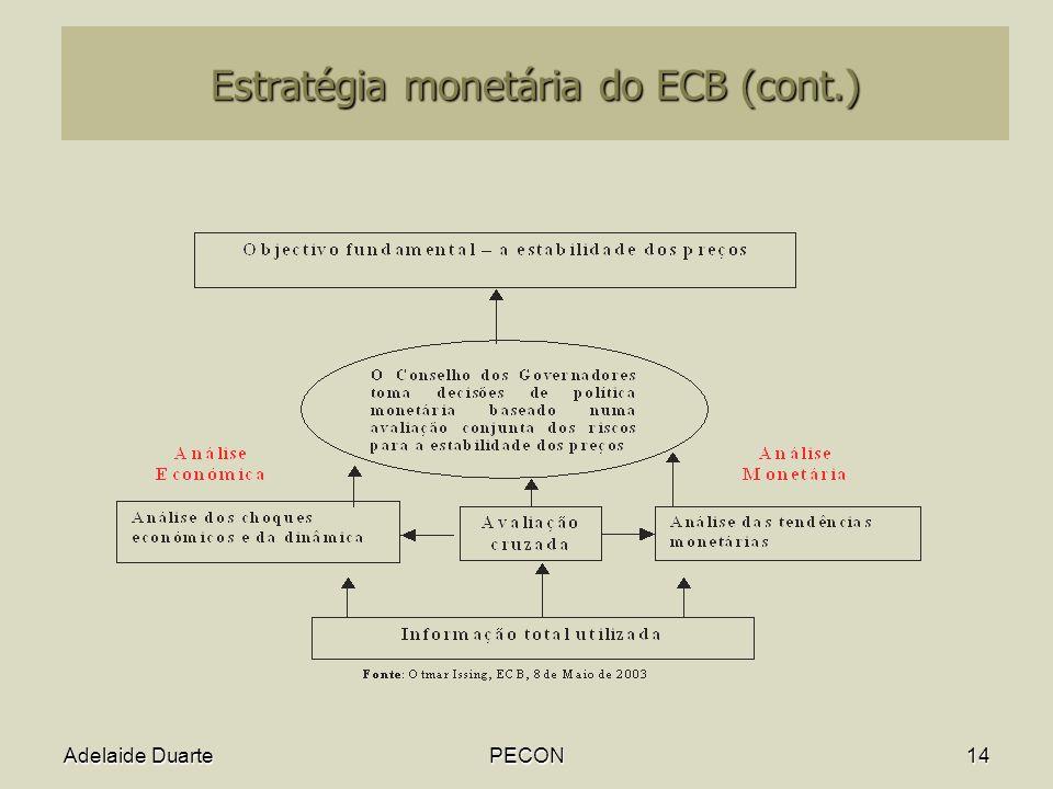 Estratégia monetária do ECB (cont.)