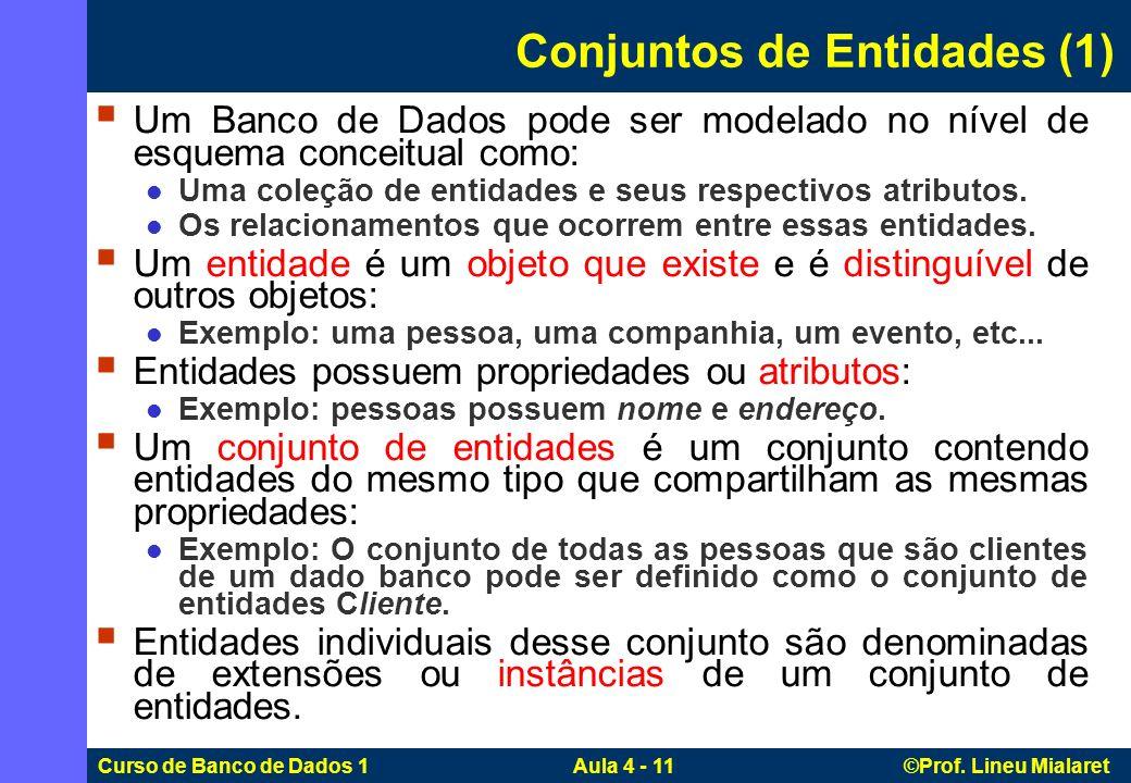 Conjuntos de Entidades (1)