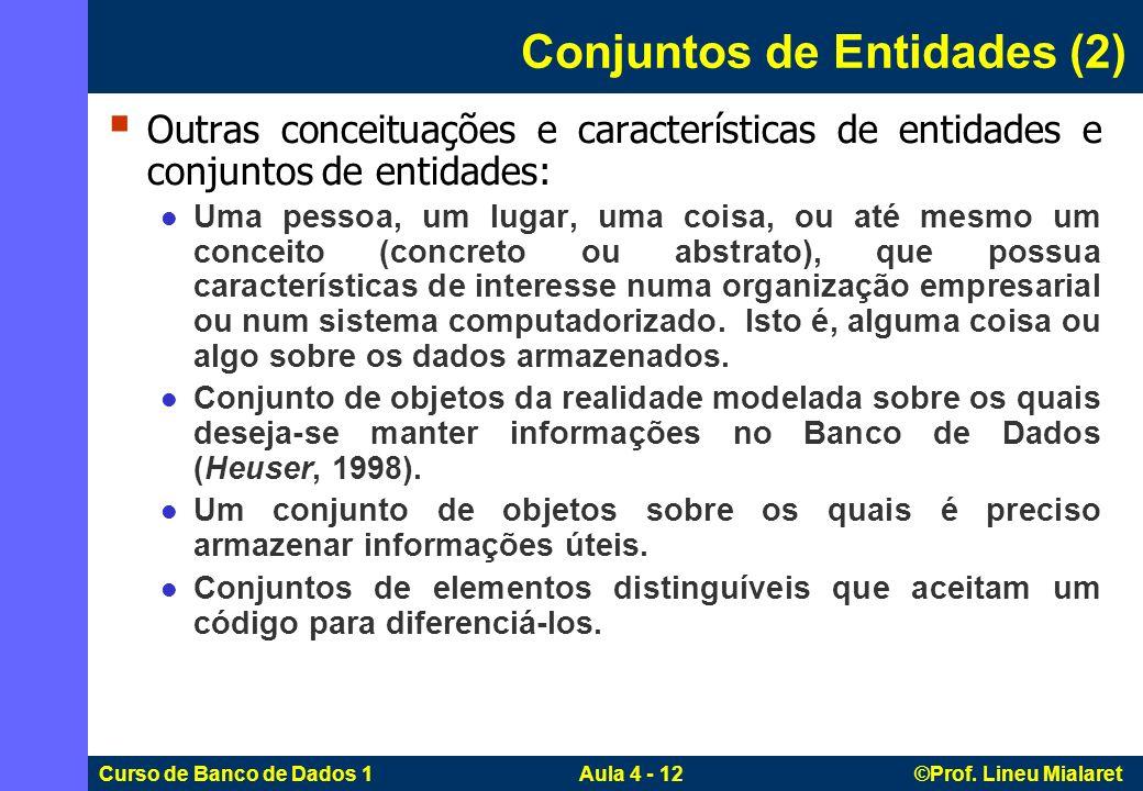 Conjuntos de Entidades (2)
