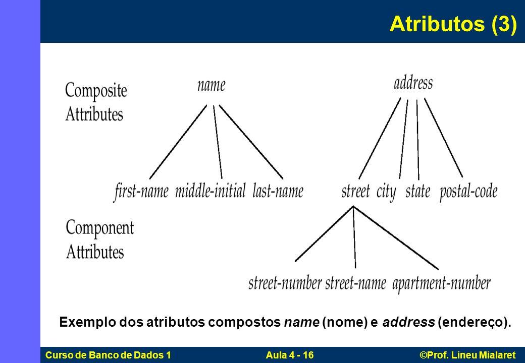 Exemplo dos atributos compostos name (nome) e address (endereço).