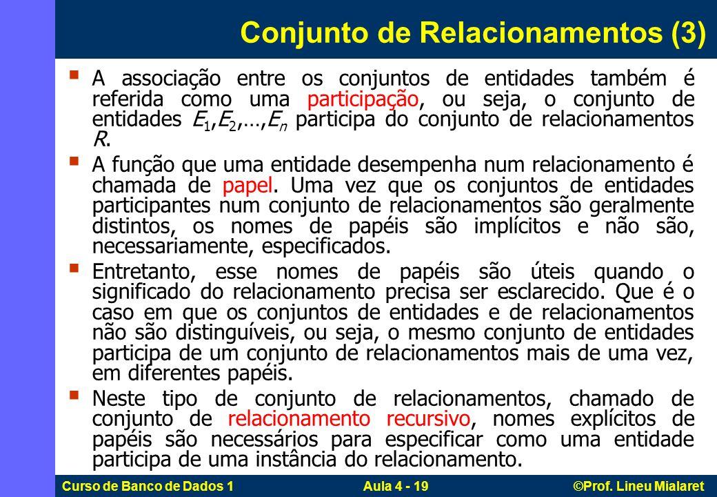 Conjunto de Relacionamentos (3)