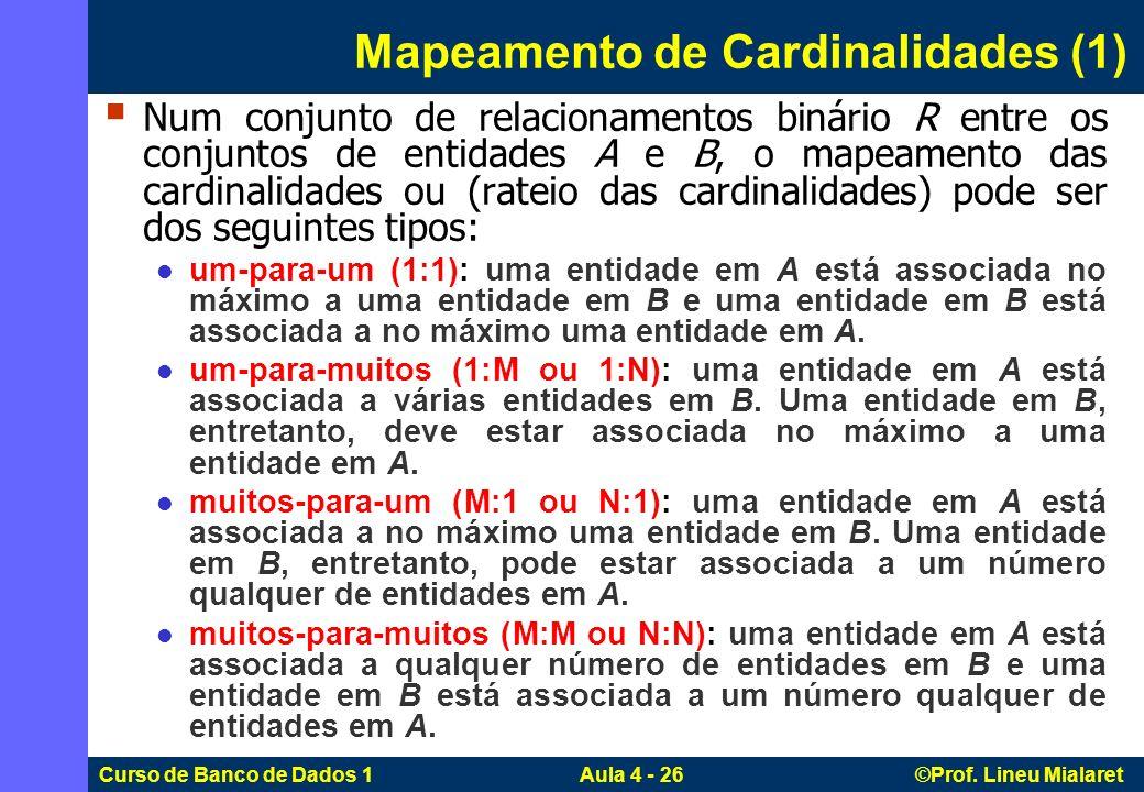 Mapeamento de Cardinalidades (1)