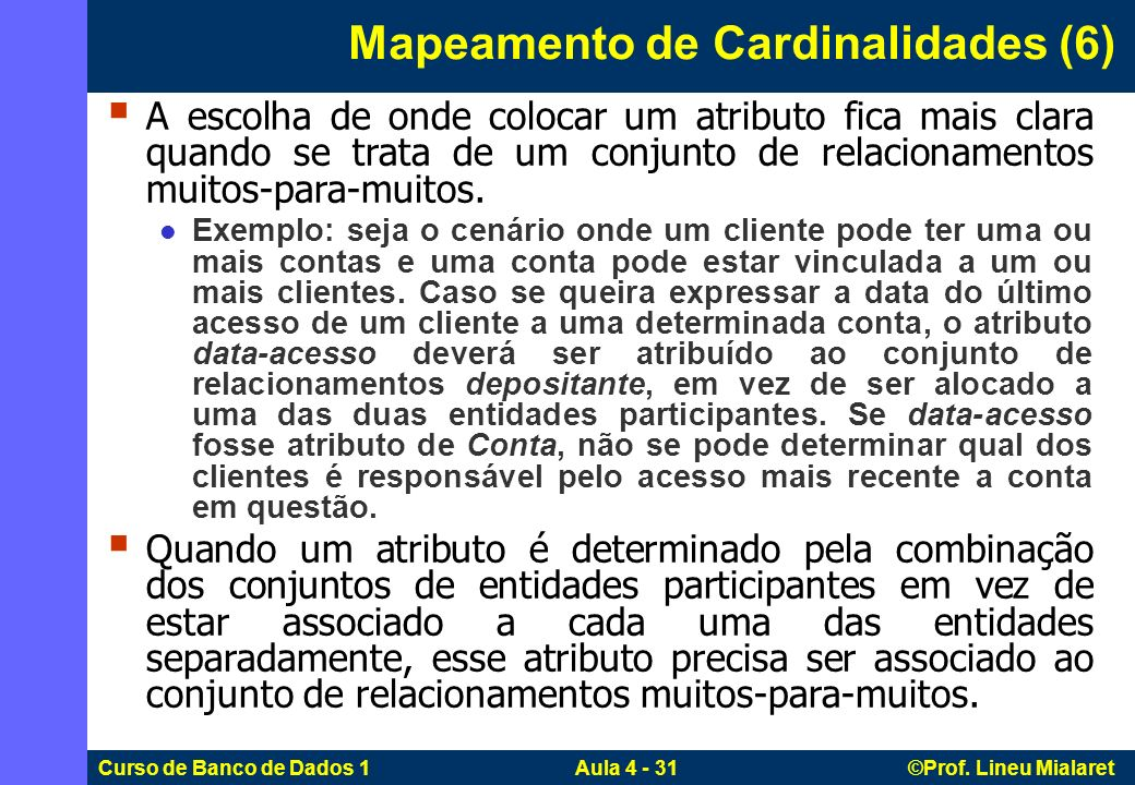 Mapeamento de Cardinalidades (6)