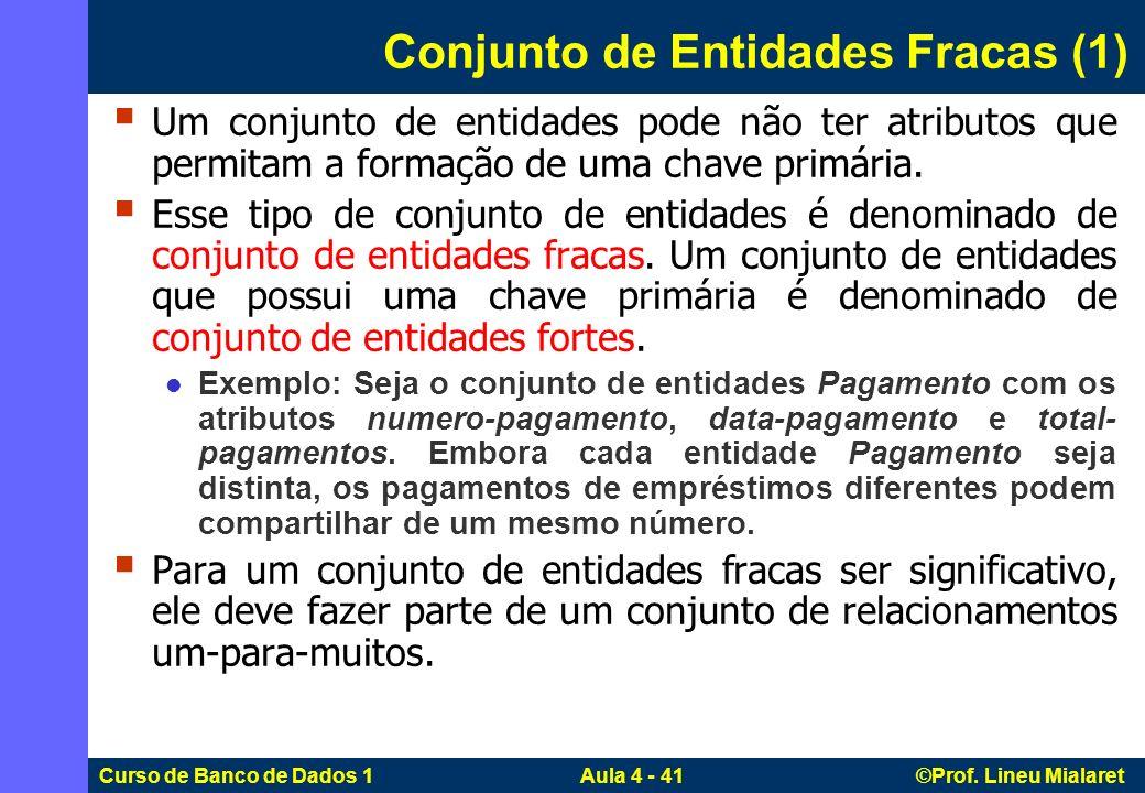 Conjunto de Entidades Fracas (1)