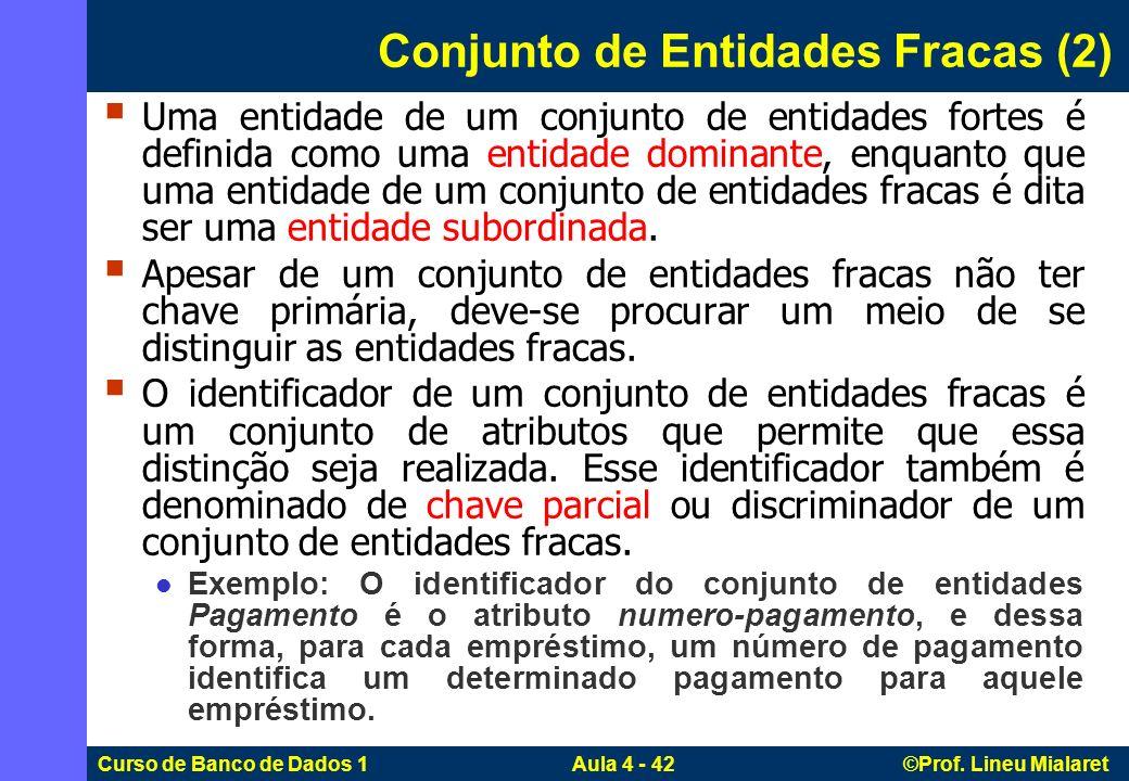 Conjunto de Entidades Fracas (2)
