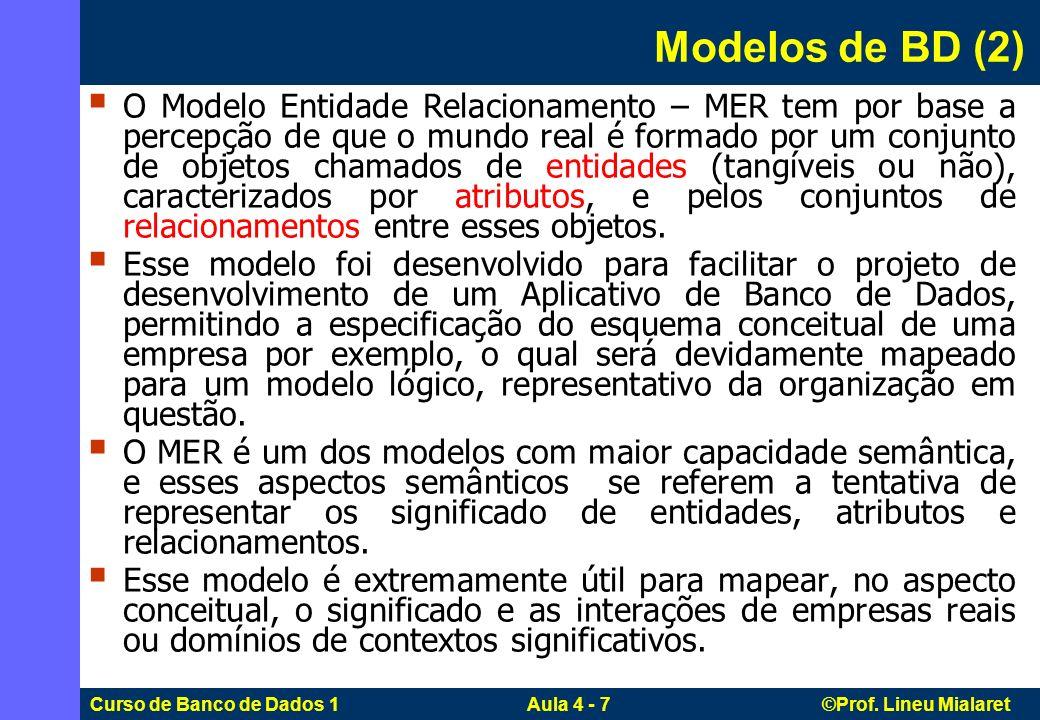 Modelos de BD (2)