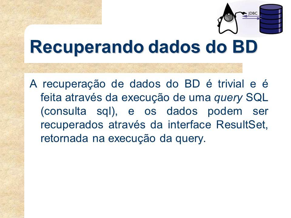 Recuperando dados do BD