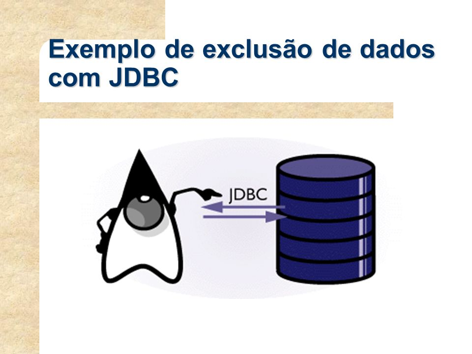 Exemplo de exclusão de dados com JDBC
