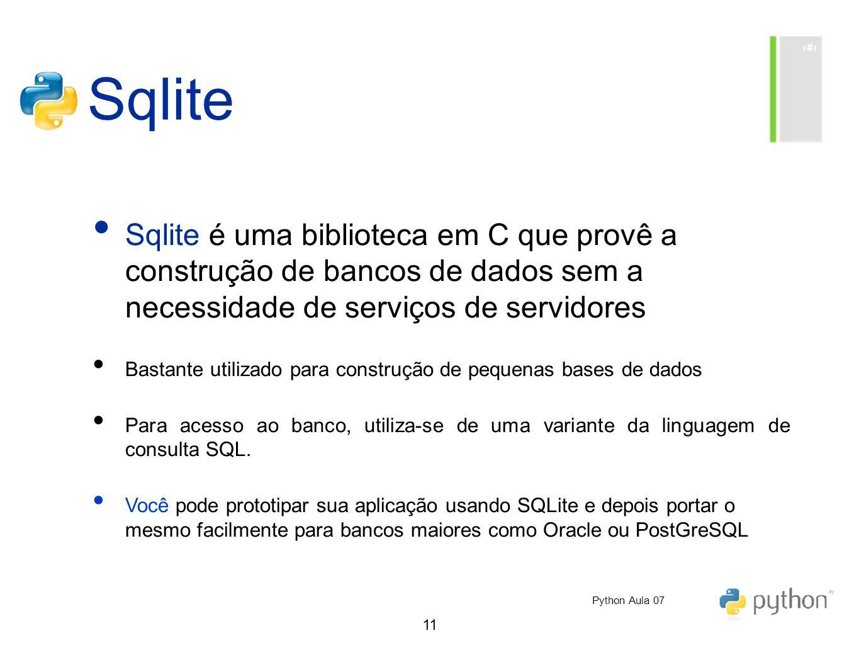 Sqlite Sqlite é uma biblioteca em C que provê a construção de bancos de dados sem a necessidade de serviços de servidores.