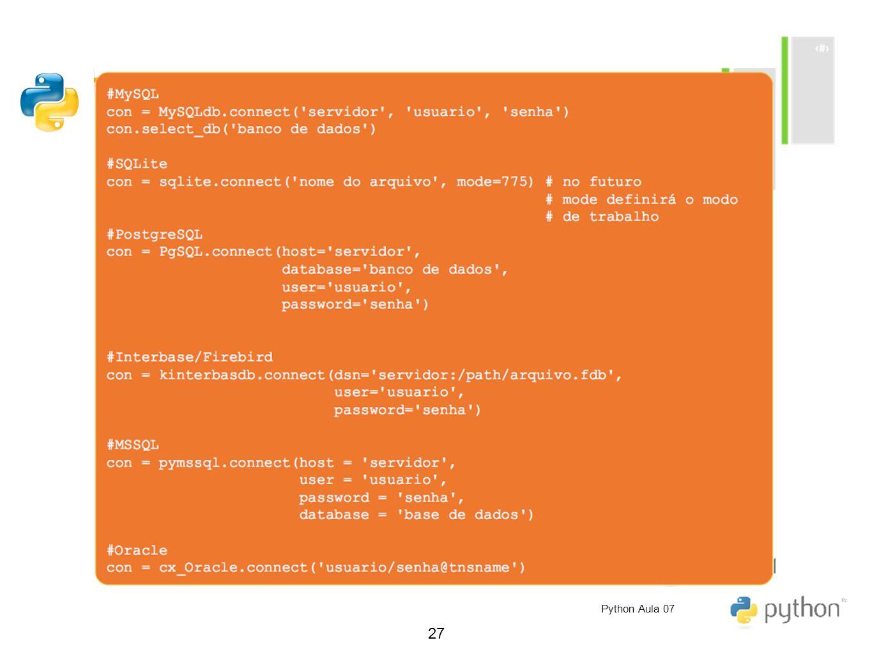 Python Aula 07