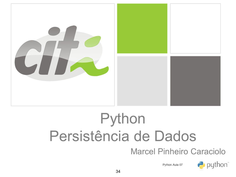 Python Persistência de Dados