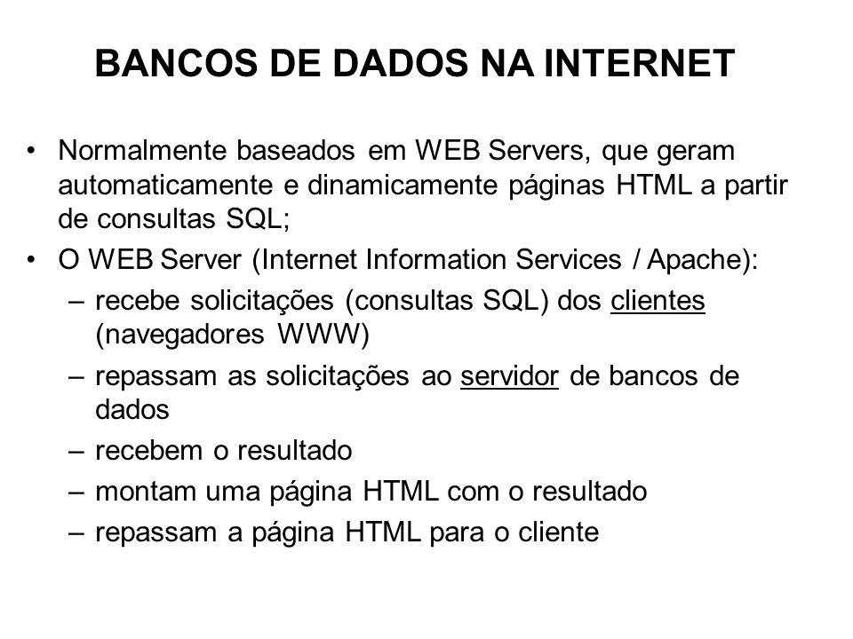 BANCOS DE DADOS NA INTERNET