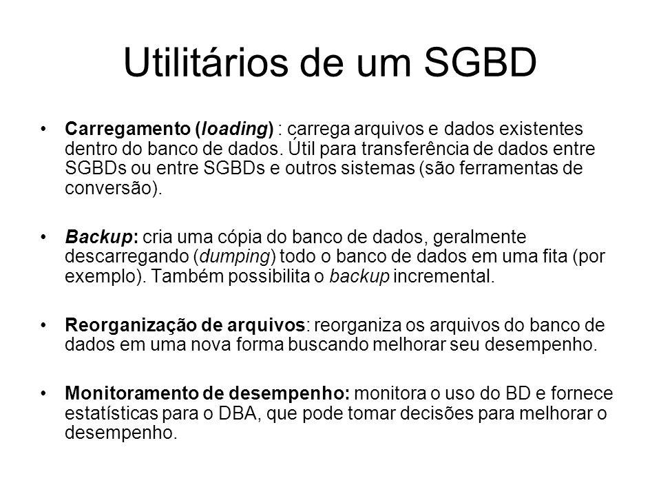 Utilitários de um SGBD