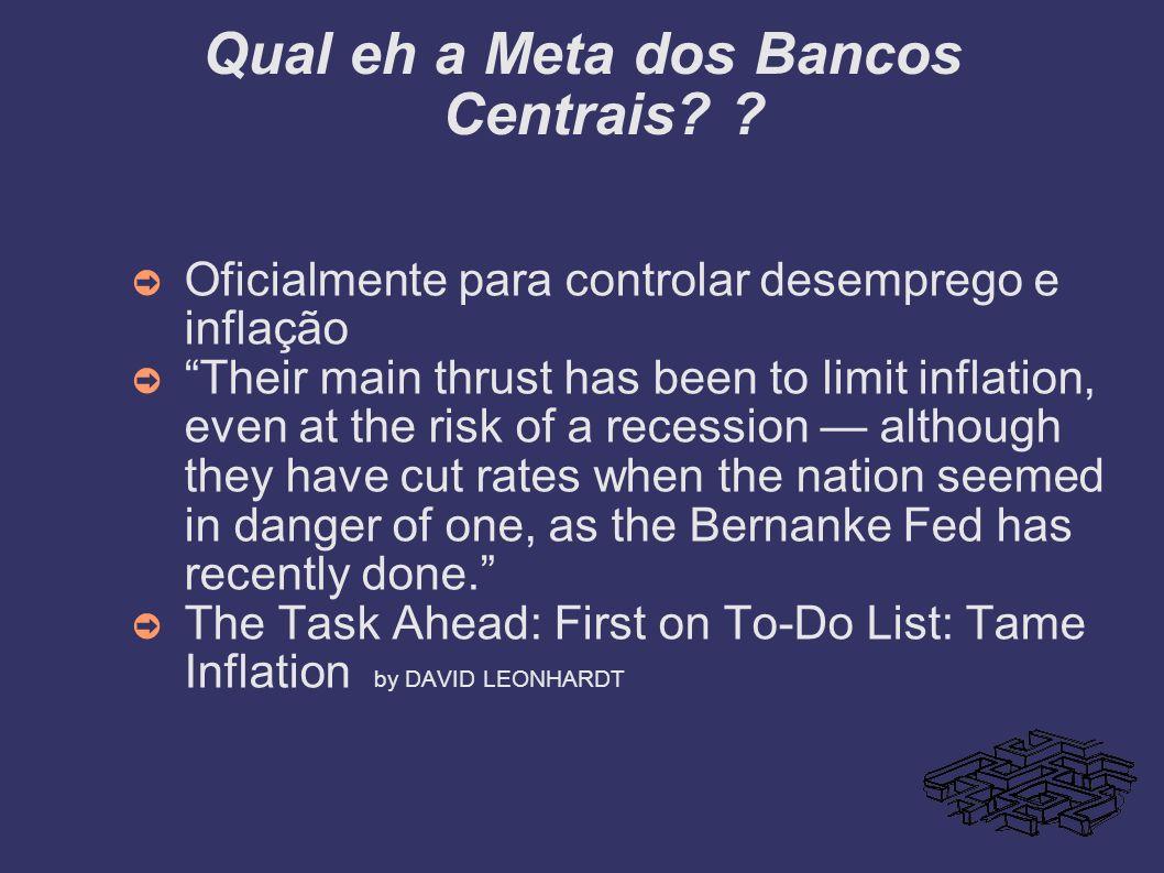 Qual eh a Meta dos Bancos Centrais