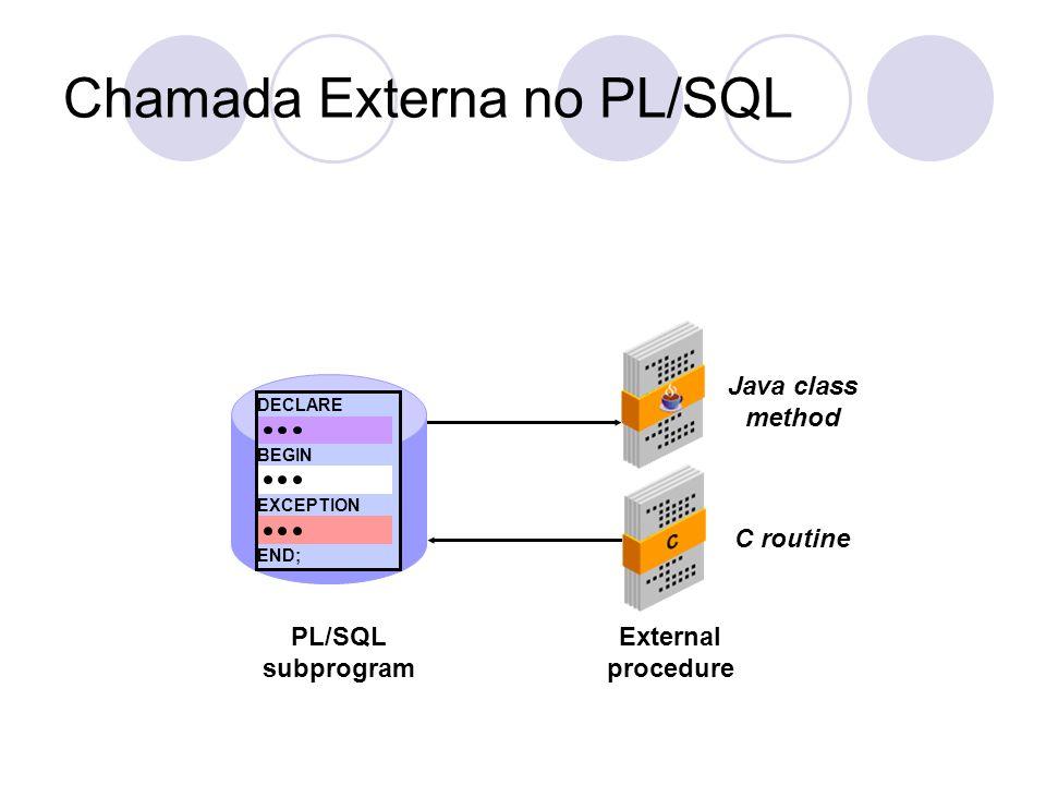 Chamada Externa no PL/SQL