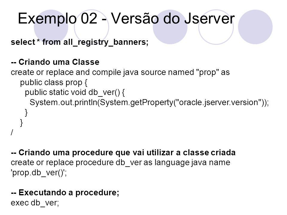 Exemplo 02 - Versão do Jserver