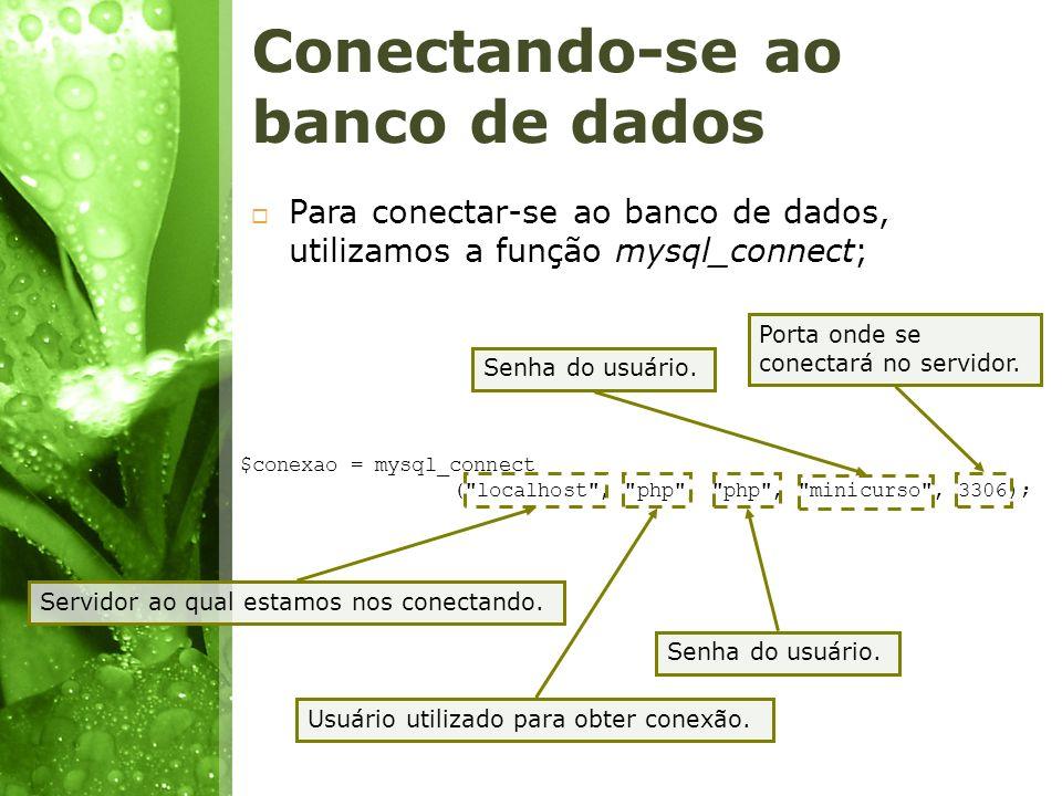Conectando-se ao banco de dados